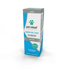Pet Releaf Hemp Oil 1700  1 oz 500 mg Hemp Oil for Dogs