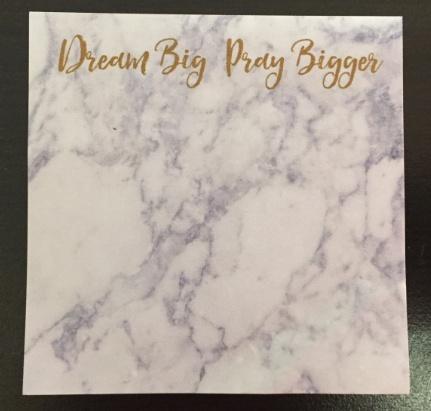 Sticky Note - Pray Bigger**