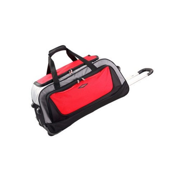 Path Wheeled Duffel Bag Black / Red Large