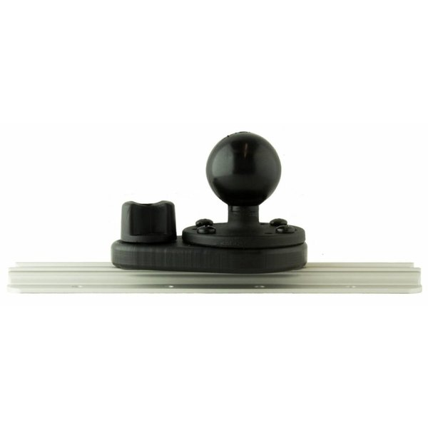(Discontinued) HD Track Mount, Includes aluminum 1.5'' RAM Mounts® ball on 2.5'' base and attachment Hardware