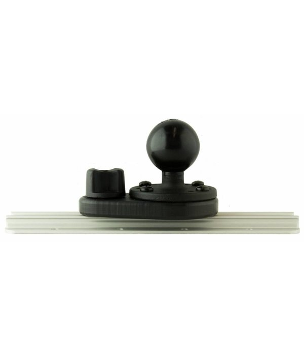 Yak-Attack HD Track Mount, Includes aluminum 1.5'' RAM Mounts® ball on 2.5'' base and attachment Hardware