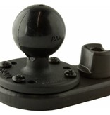 Yak-Attack (Discontinued) HD Track Mount, Includes aluminum 1.5'' RAM Mounts® ball on 2.5'' base and attachment Hardware