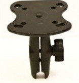 Yak-Attack (Discontinued) Aluminum Base for the Humminbird 100, 300, 500, 700 Series and Matrix Series, Includes composite connector, fits 1'' Ball Interface, No Base