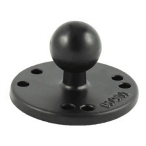 (Discontinued) RAM Mounts 2.5'' Diameter Aluminum Base, AMPs Hole Pattern with 1'' Ball, Includes Hardware