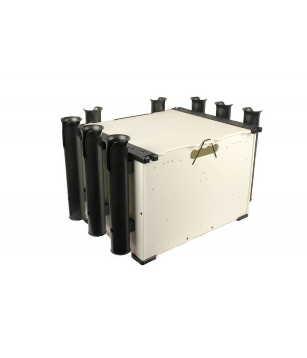 "Yak-Attack BlackPak, 12""x16""x11"", White, Includes lid and 3 rod holders"
