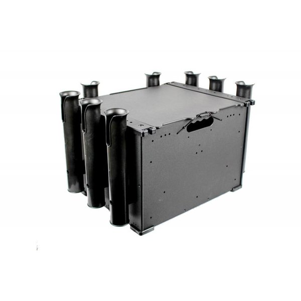 BlackPak, 12''x16''x11'', Black, Includes lid and 3 rod holders