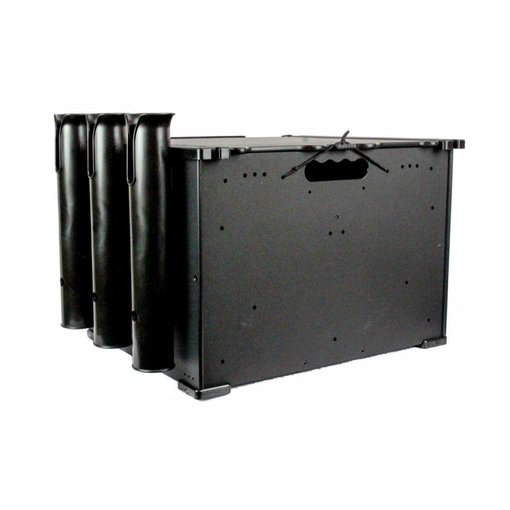 Yak-Attack BlackPak, 12''x16''x11'', Black, Includes lid and 3 rod holders