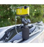 Yak-Attack PanFish Portrait Camera Mount with Mighty Mount and Mounting Hardware, 1/4-20 Camera Ball