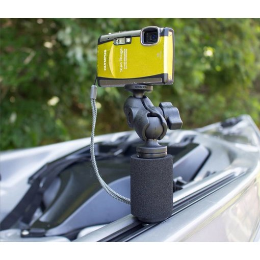 Yak-Attack (Discontinued) PanFish Portrait Camera Mount with Mighty Mount and Mounting Hardware, 1/4-20 Camera Ball