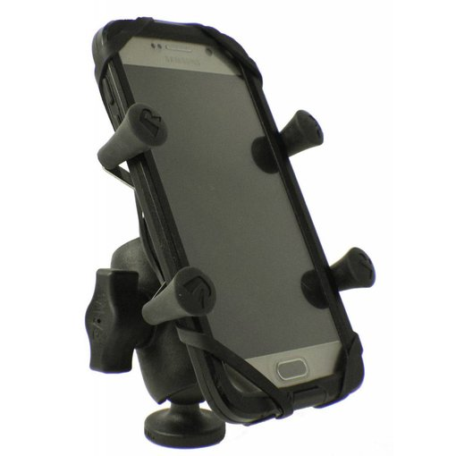 Yak-Attack Screwball Combo, RAM Mounts® Universal X-Grip mount for Smartphones and small electronics, Includes composite connector and 1'' Screwball
