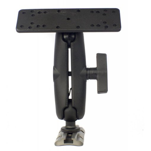 Yak-Attack Screwball Combo, RAM Mounts® Universal Electronics Mount, 6 1/4'' X 2'', Includes composite connector and 1.5'' Screwball