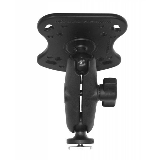Yak-Attack (Discontinued) Screwball Combo, RAM Mounts® Aluminum Base for the Humminbird 100, 300, 500, 700 Series and Matrix Series, Includes composite connector and 1'' Screwball.
