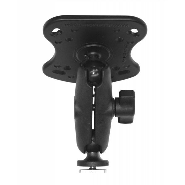 "Screwball Combo, RAM Mounts® Aluminum Base for the Humminbird 100, 300, 500, 700 Series and Matrix Series, Includes composite connector and 1"" Screwball."