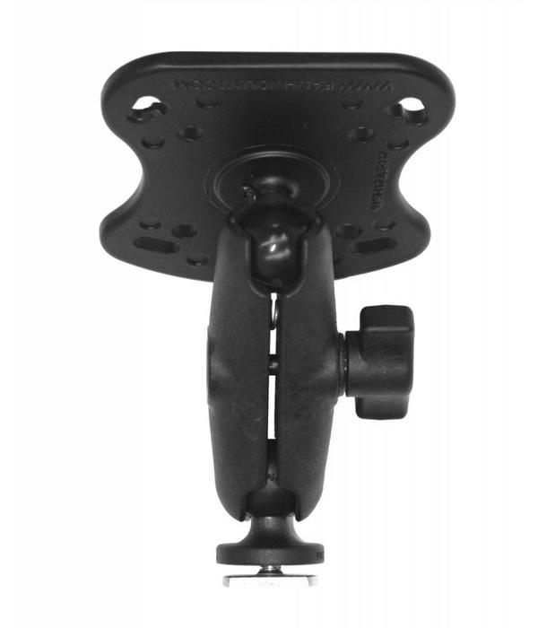Yak-Attack Screwball Combo, RAM Mounts® Aluminum Base for the Humminbird 100, 300, 500, 700 Series and Matrix Series, Includes composite connector and 1'' Screwball.