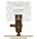 Yak-Attack (Discontinued) Screwball Combo, RAM Mounts® Ball Mount for Lowrance Elite-5 & Mark-5 Series Fishfinders, Includes composite connector and 1.5'' Screwball