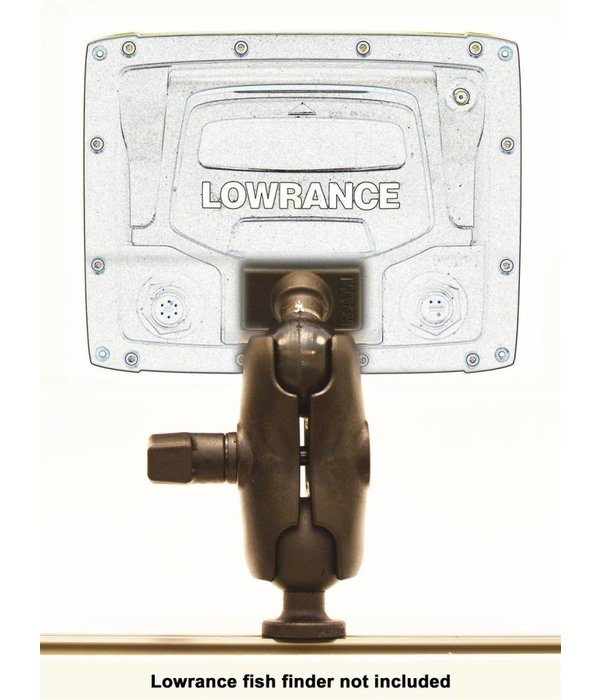 """Yak-Attack Screwball Combo, RAM Mounts® Ball Mount for Lowrance Elite-5 & Mark-5 Series Fishfinders, Includes composite connector and 1.5"""" Screwball"""