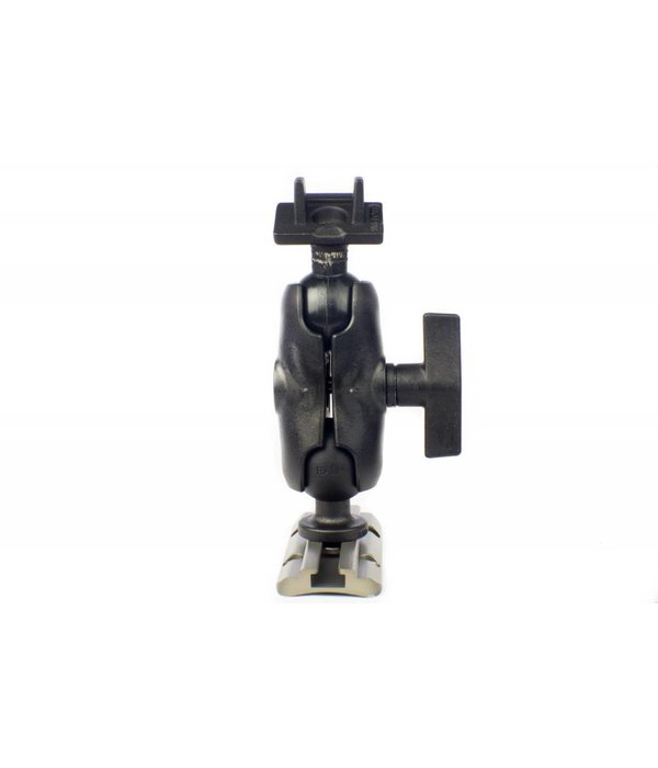 Yak-Attack Screwball Combo, RAM Mounts® Ball Mount for Lowrance Elite-5 & Mark-5 Series Fishfinders, Includes composite connector and 1.5'' Screwball