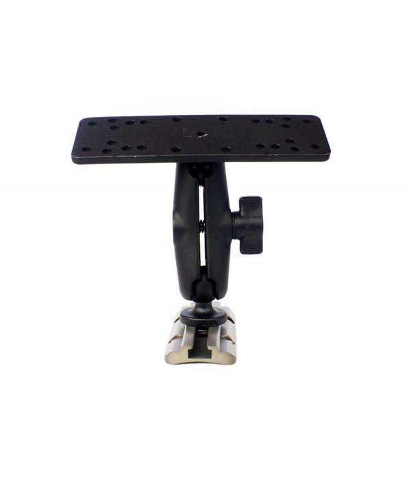 """Yak-Attack Screwball Combo, Universal electronics Mount, 6 1/4"""" X 2"""", Includes composite connector arm and 1"""" Screwball"""