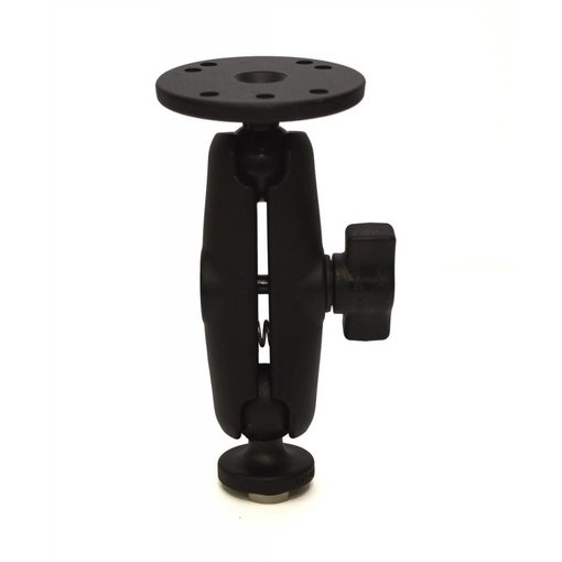 Yak-Attack Screwball Combo, RAM Mounts® Aluminum Mount for Garmin Fishfinders and Older Raymarine Dragonfly, Includes composite connector and 1'' Screwball
