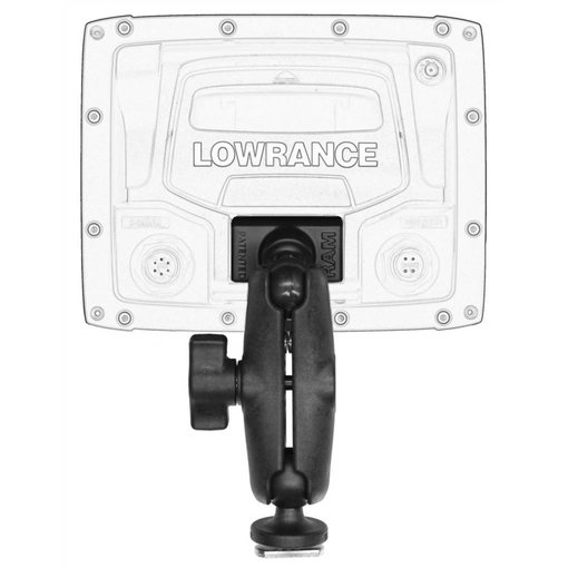 Yak-Attack (Discontinued) Screwball Combo, RAM Mounts® Ball Mount for Lowrance Elite-4 & Mark-4 Series Fishfinders, Includes composite connector and 1'' Screwball.
