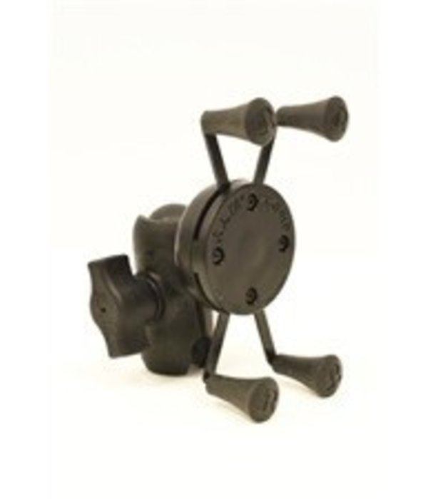 Yak-Attack (Discontinued) RAM Mounts Universal X-Grip mount for Smartphones and small electronics, Includes composite connector, Fits 1'' Ball Interface, No Base