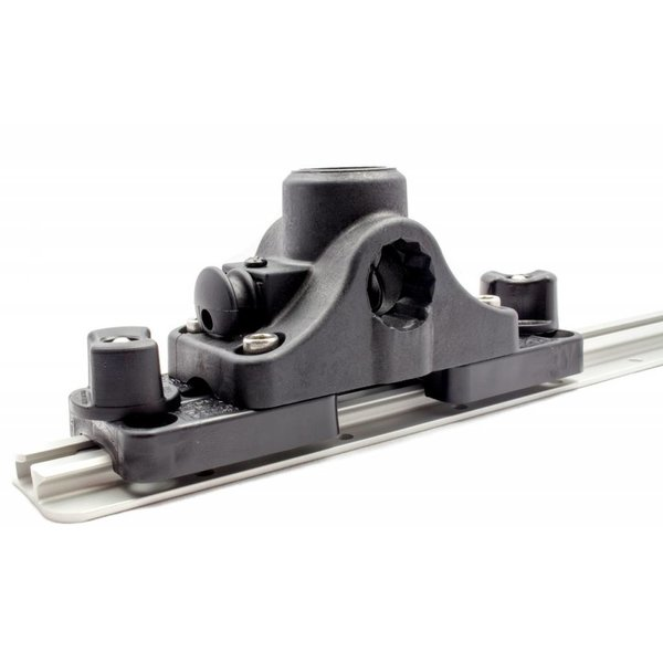 RAM Mounts® Post and Spline Plunger Deck Mount with MMS-12 Track Adapter Kit, Includes RAM Deck Mount and Hardware