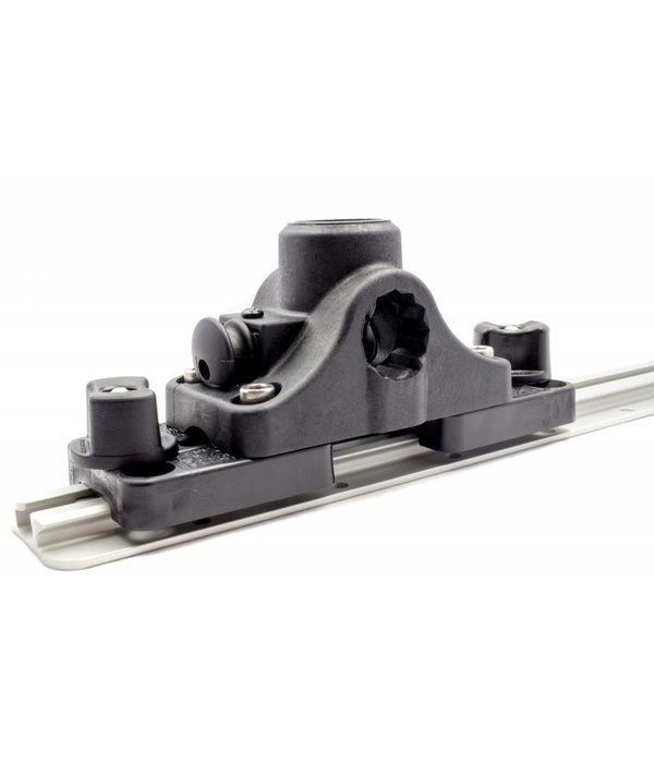 Yak-Attack RAM Mounts® Post and Spline Plunger Deck Mount with MMS-12 Track Adapter Kit, Includes RAM Deck Mount and Hardware