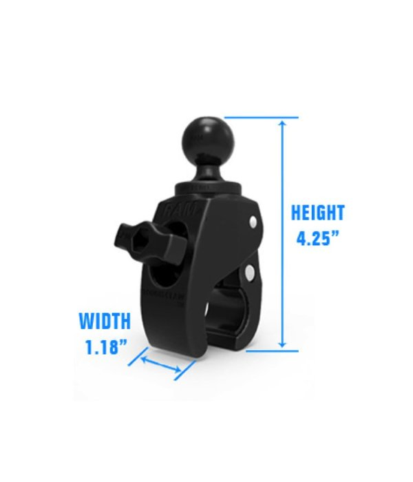 Yak-Attack (Discontinued) RAM Mounts Small Tough-Claw™ with B Size 1'' Diameter Rubber Ball