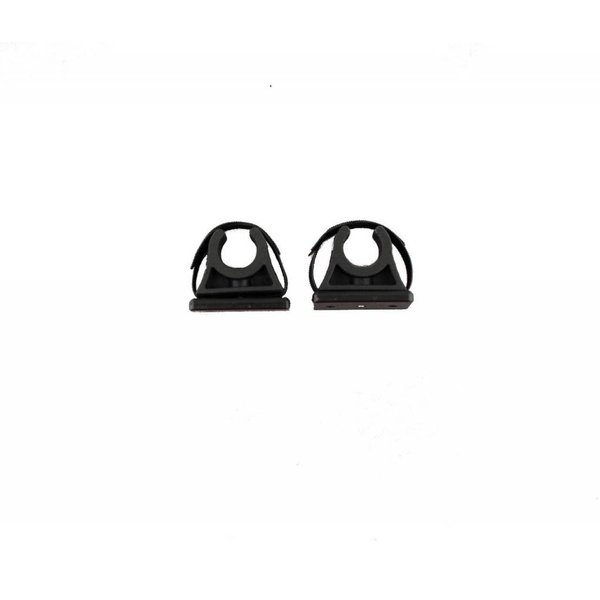 ParkNPole Rubber Clips with deluxe Mounting base, Includes Hardware and security strap, 2 pack