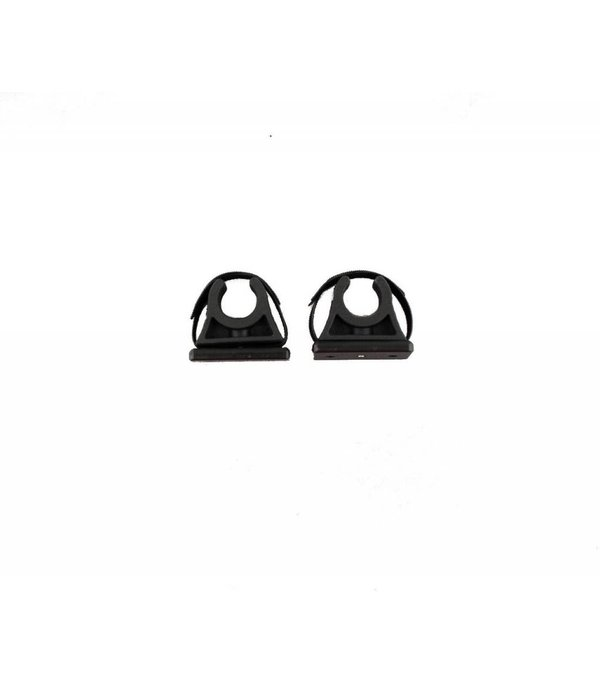 Yak-Attack ParkNPole Rubber Clips with deluxe Mounting base, Includes Hardware and security strap, 2 pack