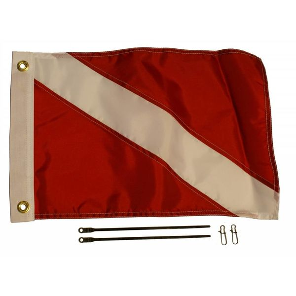 Diver Down Flag Kit, 12'' x 18''