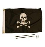 Yak-Attack Jolly Roger Flag Kit, 12'' x 18''
