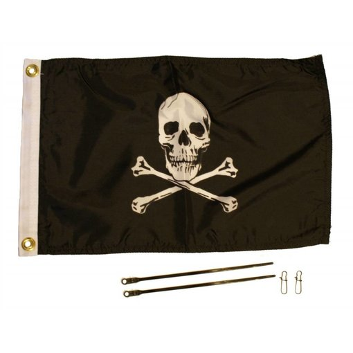 Yak-Attack Jolly Roger Flag Kit, 12'' x 18''