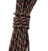 Yak-Attack USA Made 550 Paracord With Reflective Tracer Black/Orange (35')