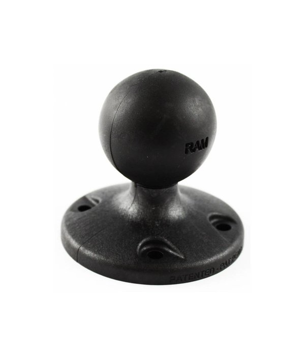RAM Mounts® 2.5'' Composite Round Base with the AMPs Hole Pattern with 1.5'' Ball