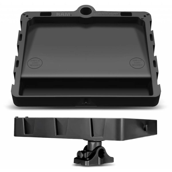 (Discontinued) RAM Mounts STACK-N-STOW™ Bait Board with Combination Bulkhead/Flat Surface Base and Plunger