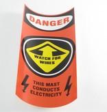 Hobie Orange Mast Caution Decal