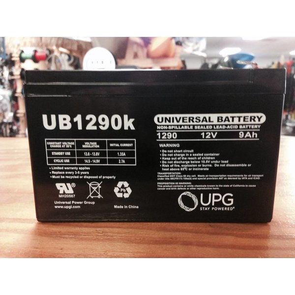Battery - 12 V 9 Amp Sla