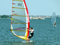 Windsurfing in North Texas