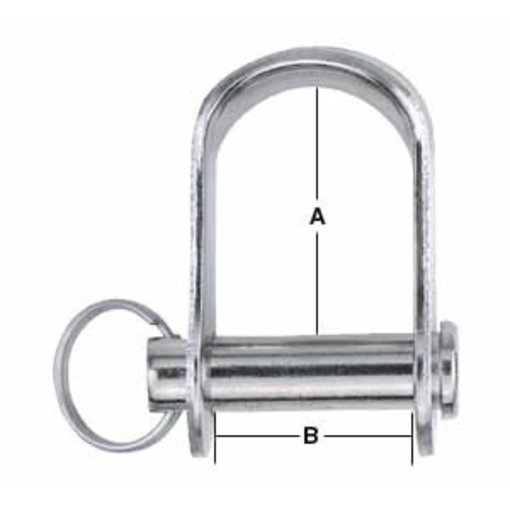 Harken Shackle Stamped 1/4'' Pin (6mm)