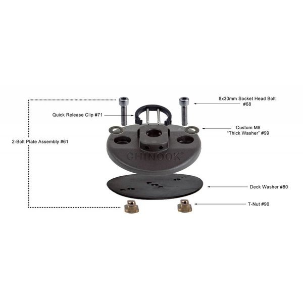 2 Bolt Base Assembly With Out Tool