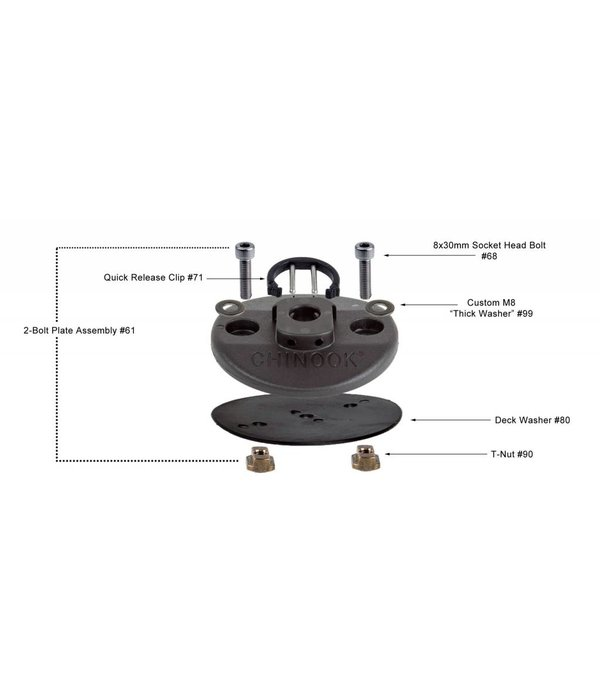 Chinook 2 Bolt Base Assembly With Out Tool