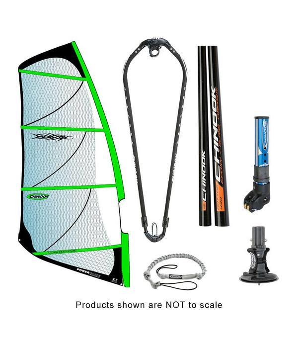 Chinook Power Glide Rig Pack w/ Epoxy Fiberglass Standard Diameter Mast