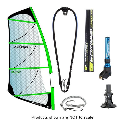 Chinook Power Glide Rig Pack w/ 60% Carbon Reduced Diameter Mast