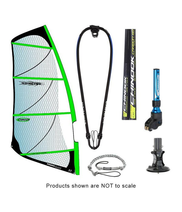 Chinook Power Glide Rig Pack w/ 80% Carbon Reduced Diameter Mast