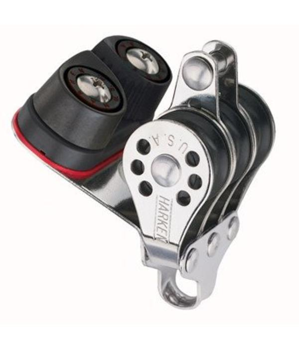 Harken Block 22mm Micro Triple With Cleat & Becket