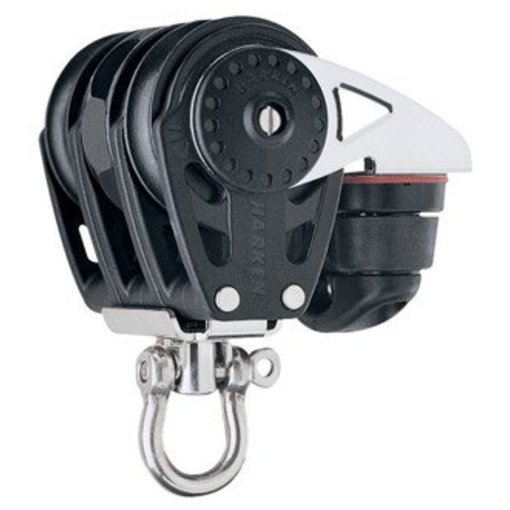 Harken Block 40mm Carbo Triple With Ratchet & Cleat