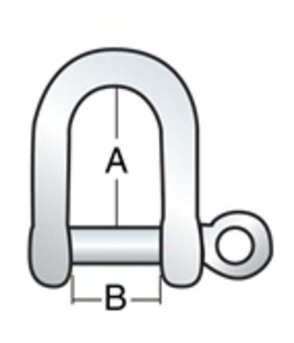 "Harken Shackle Long 3/16"" Pin (5mm)"