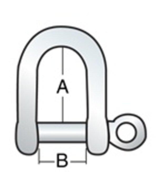 Harken Shackle Long 1/4'' Pin (6mm)