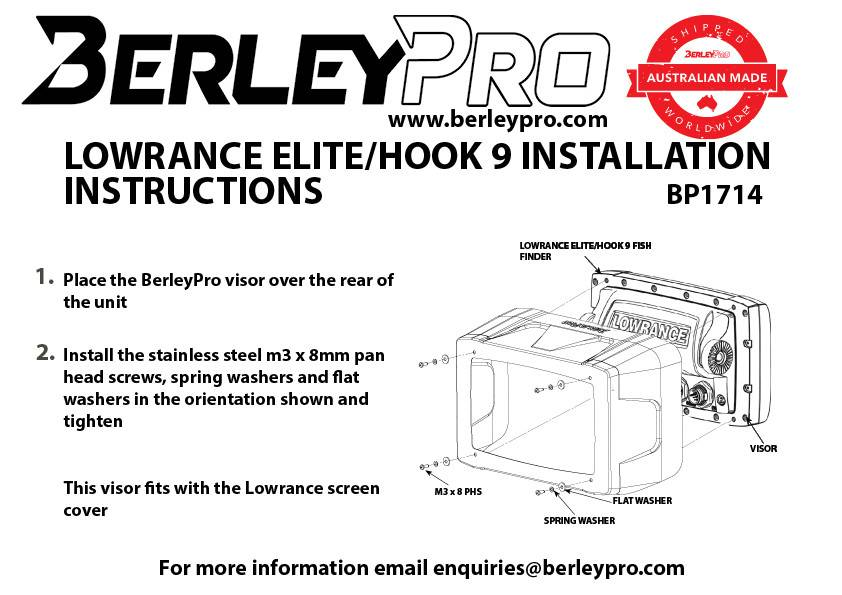 berleypro lowrance elite hook 9 visor berleypro lowrance elite hook 9 visor mariner sails  at nearapp.co